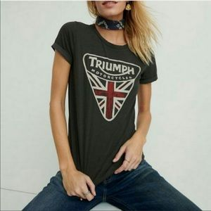 Lucky Brand x Triumph Motorcycles Graphic Boho Tee
